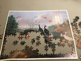 OPTIMAGO Wood Jigsaw Puzzle Decorative Fowl Round a Lake wDucks /& Ducklings
