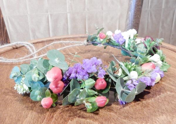 Atelier couronne de fleurs avec Mint & Sweet Pepper