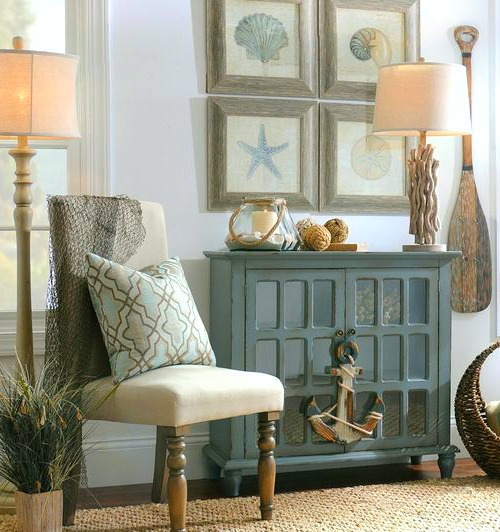 Beach Home Decor Ideas: Coastal Beach Cottage Wall Decor & Gallery Wall Ideas From