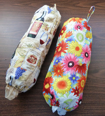 Easy Homemade Fabric Plastic Grocery Bag Holder Sewing Project