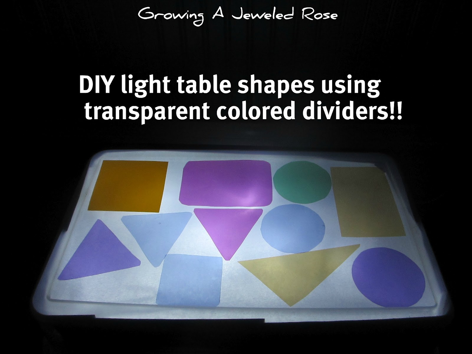 Do It Yourself Lighting: Do It Yourself Light Table & Shapes