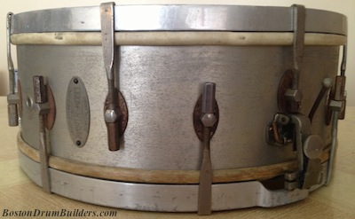Lee's George B. Stone & Son All-Metal Master-Model Drum - Before Cleaning