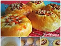 Resep Cara Membuat Roti Daging Asap Lembut - Bacon Cheese Bun favorit