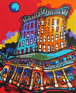 """Night and Day"" Basin Park Hotel, Eureka Springs, by Tim Logan"