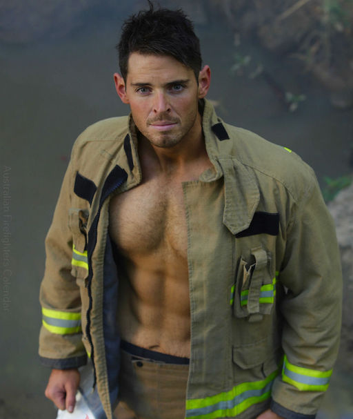 "The Australian Firefighters Calendar (above) is so popular (how popular is it?) that there are multiple versions including the hot firefighter+dog edition, the hot firefighter+cat edition, the hot firefighter+ animal edition and the just plain ""hot"" edition. The annual charity calendars raise money for several charities each year. Click over to the official website for more photos and info."