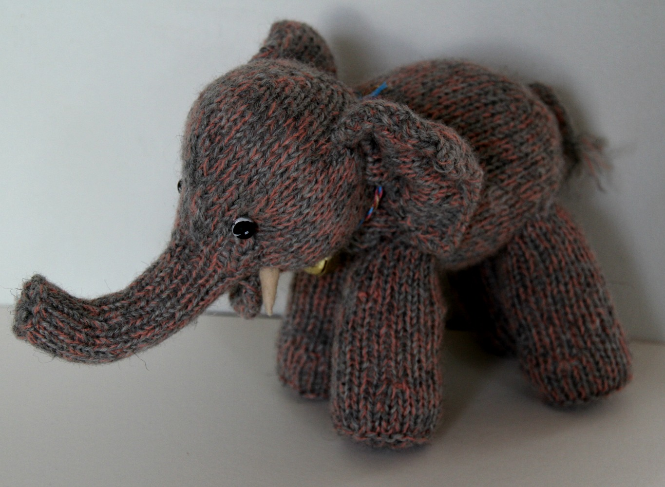 Susie mcmahon dolls more about knitted elephants i made a pink one a grey one and a mixed pink and grey one if you want to knit one yourself for someone special in your life the pattern is available bankloansurffo Images
