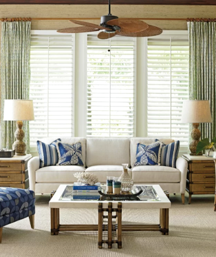Woven Blade Tropical Ceiling Fan