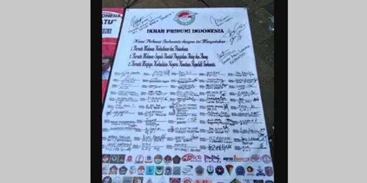 80 Ormas Tandatangani Deklarasi Kebangkitan Pribumi Indonesia