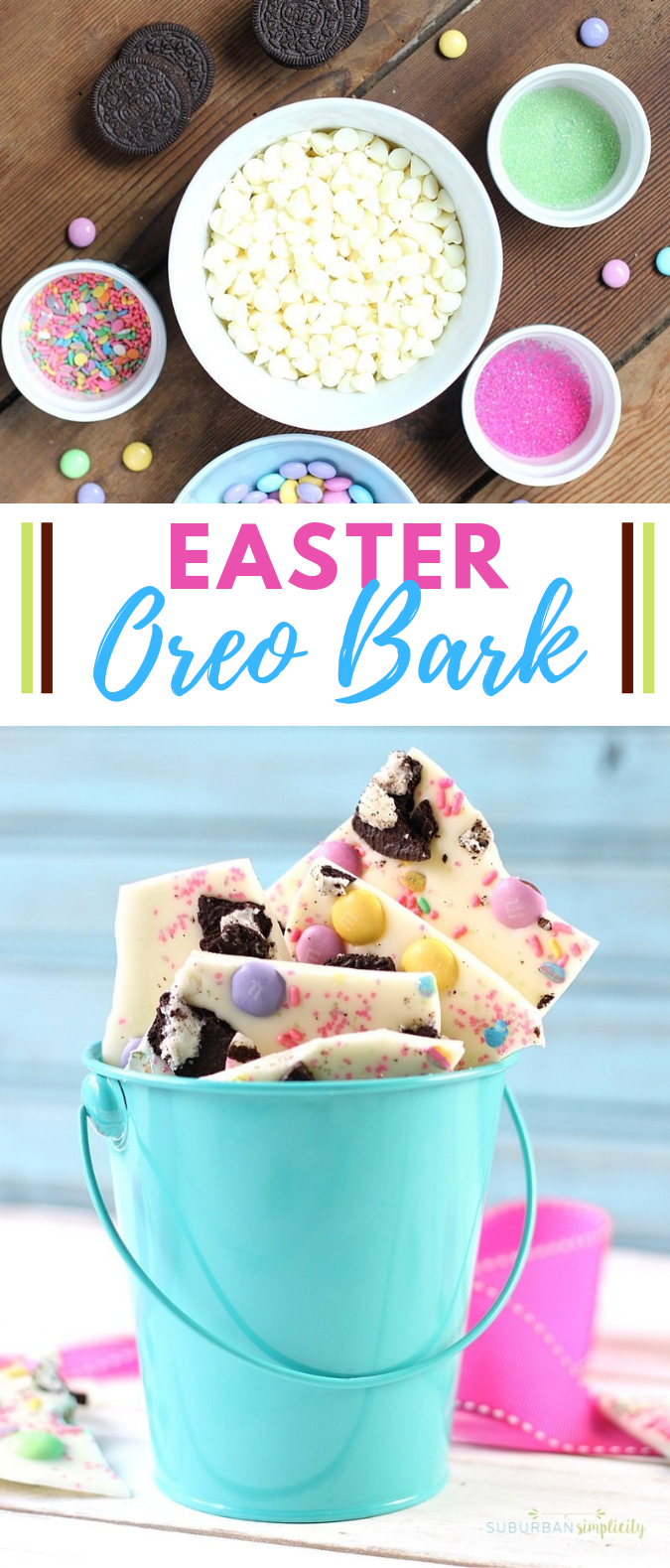 EASTER OREO BARK THAT'S SUPER EASY! #dessert #cake