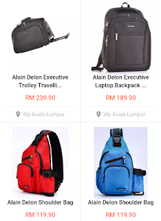 Shopping Bagpack Alain Delon di Parkson Setia City Mall