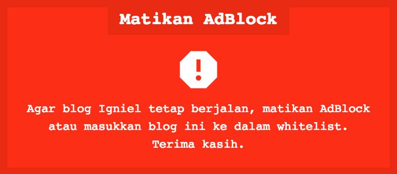 Cara Pasang AdBlock Killer Versi Terbaru di Blogger