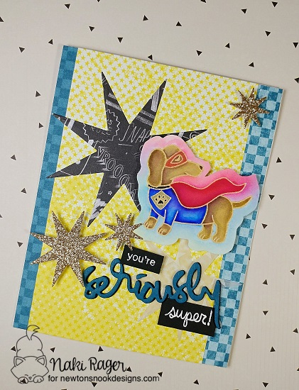 Seriously Super Dog Card by Nakaba Rager | Dress Up Doxies Stamp Set by Newton's Nook Designs #newtonsnook