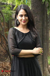 Miya George Stills in Black Dress at Oru Naal Koothu Press Meet ~ Celebs Next
