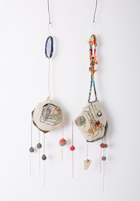 Specks and Keepings mobiles made from scraps