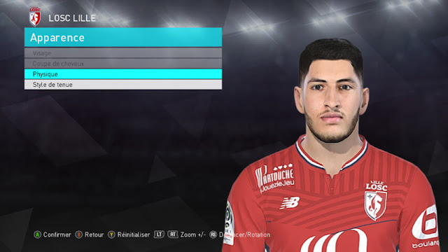 Yassine Benzia Face PES 2018