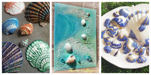 DIY SEASHELL CRAFTS IDEAS