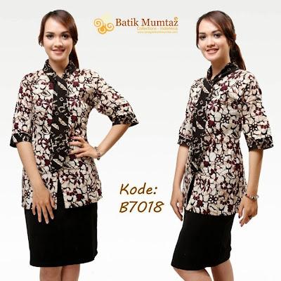 Model Baju Batik Modern Wanita Dewasa Terbaru