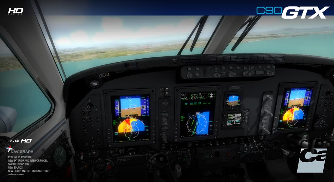 FSX/P3D] Carenado: C90 GTX King Air HD - FLIGHT  XTREME