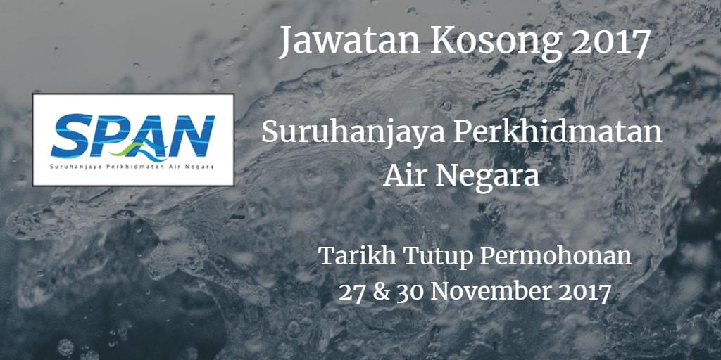 Jawatan Kosong SPAN 27 & 30 November 2017