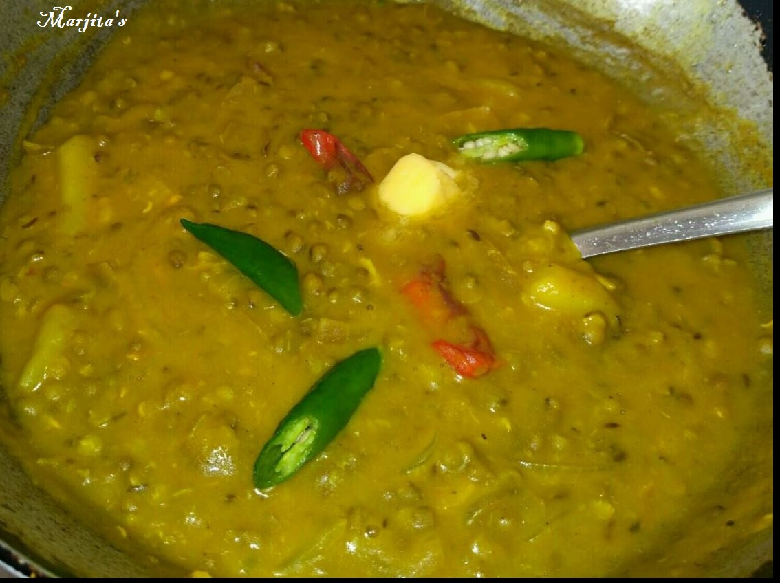 how to make moong dal tadka