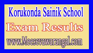 Korukonda Sainik School 2016-17 Results
