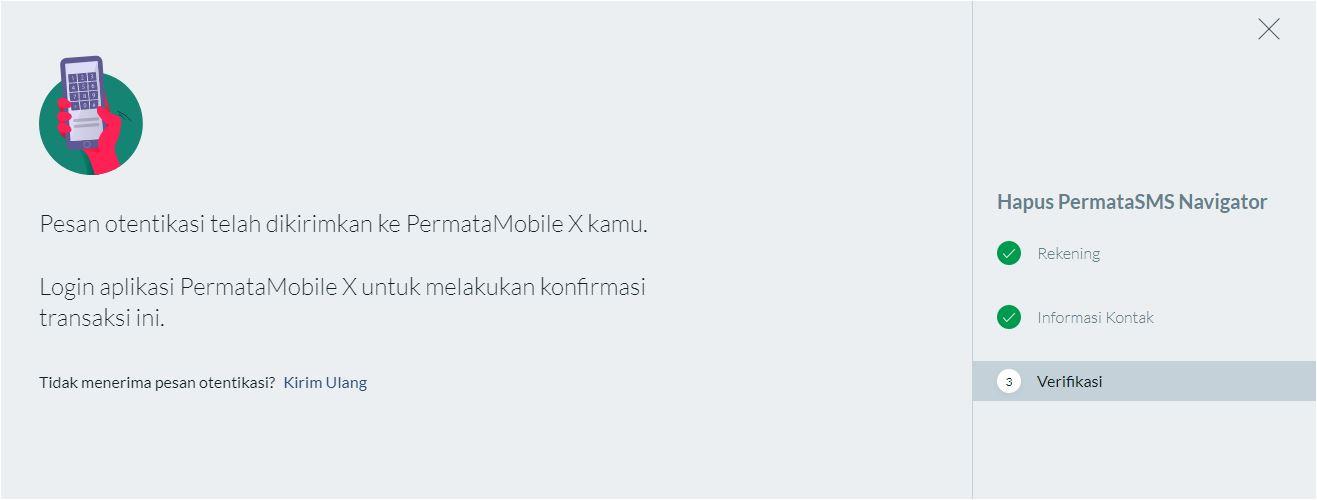 Otentifikasi Hapus SMS Navigator Bank Permata