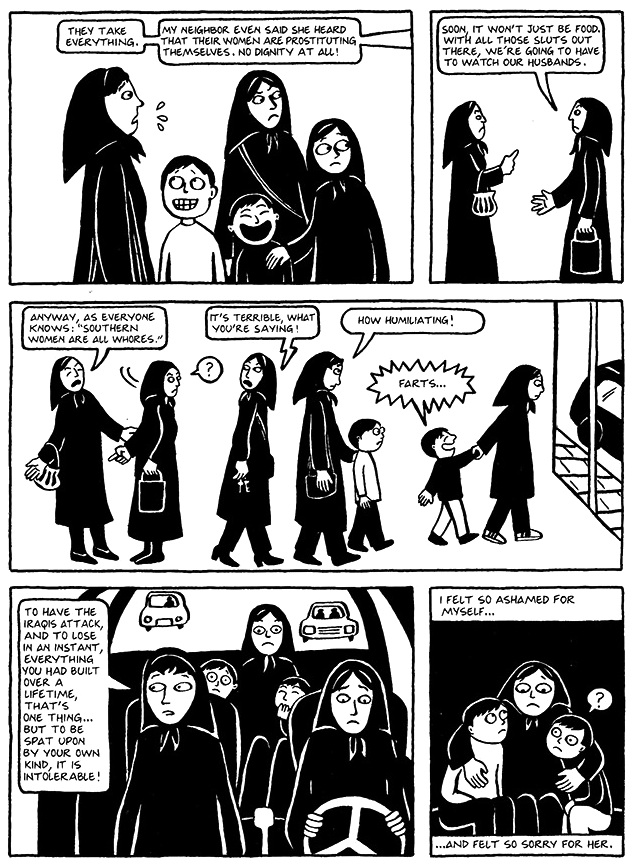 Read Chapter 12 - The Jewels, page 91, from Marjane Satrapi's Persepolis 1 - The Story of a Childhood