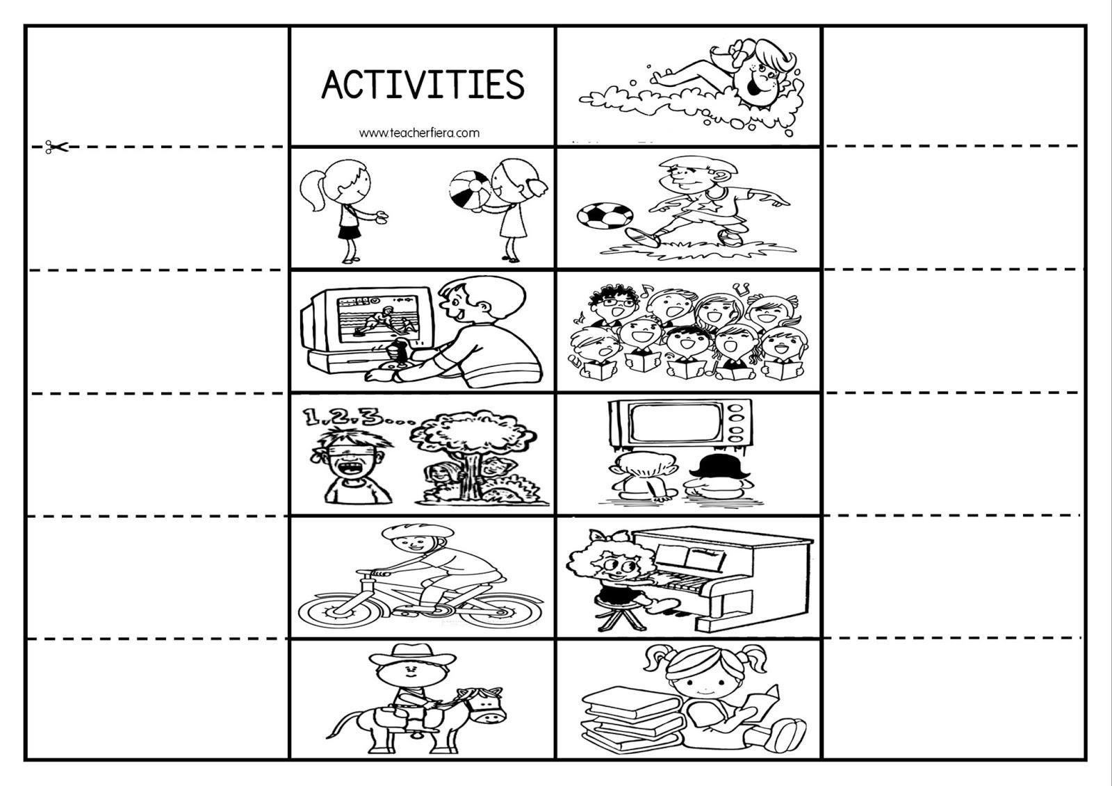 Teacherfiera Year 2 Unit 5 My Free Time Activities Gallery Walk Amp Flipbook Activity