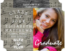 Glee Club Music Rustic Photo Graduation