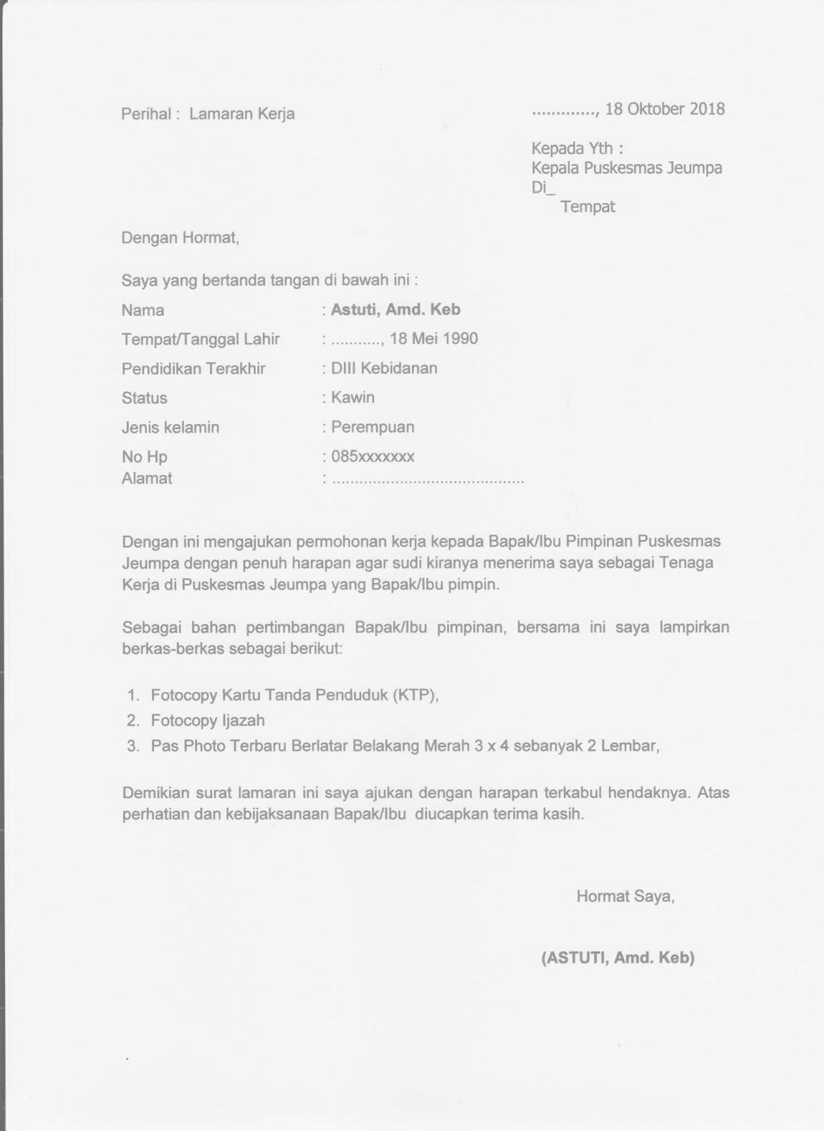 96 Contoh Surat Lamaran Kerja Untuk Oppo