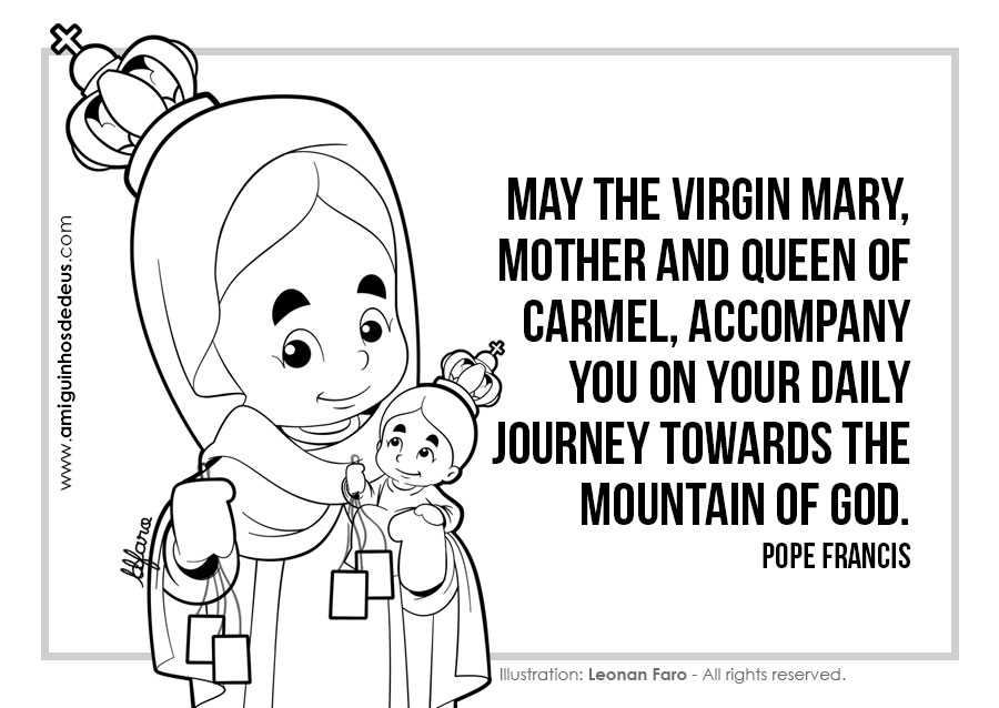 Our Lady of Mount Carmel coloring pages
