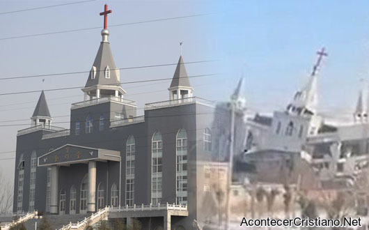 Iglesia evangélica Golden Lampstand dinamitada