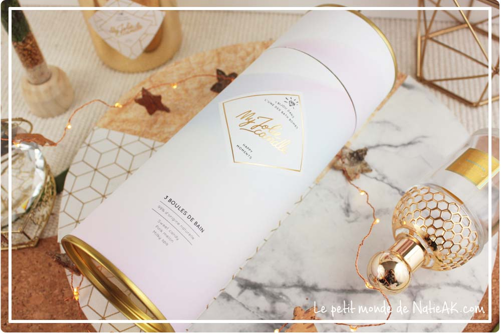 Coffret boules de bain Happy moments My jolie candle