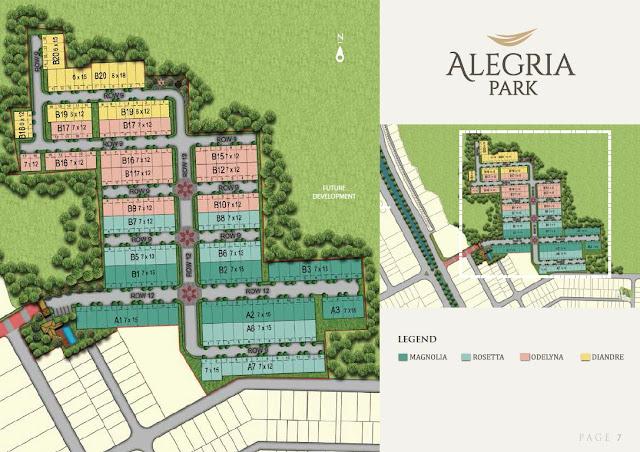 Siteplan Cluster Alegria Park