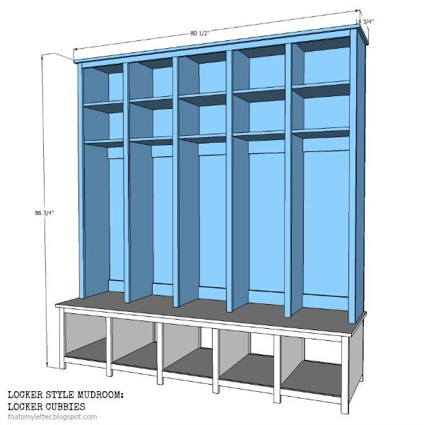 Mudroom Storage Cubbies : That s my letter locker style mudroom shoe cubbies