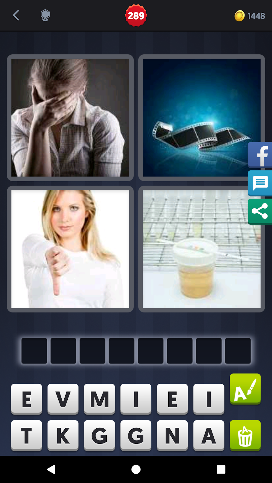 4 Pics 1 Word Answers Solutions Level 289 Negative