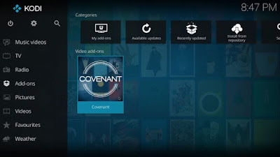 Install and enjoy Covenant Kodi Addon