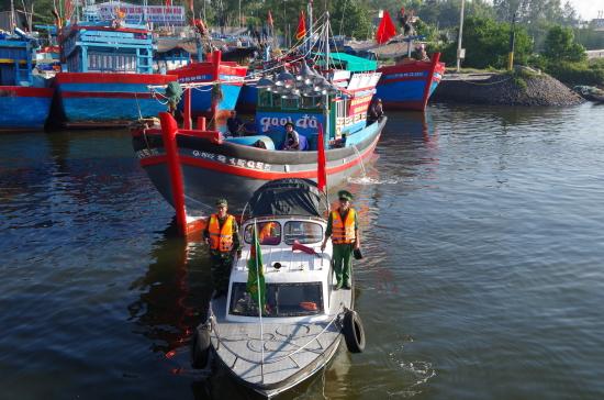 diễn tập huy động tàu thuyền bảo vệ biển đảo
