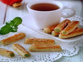 Gambar Resep Kue Kering Green Tea Keju Stik