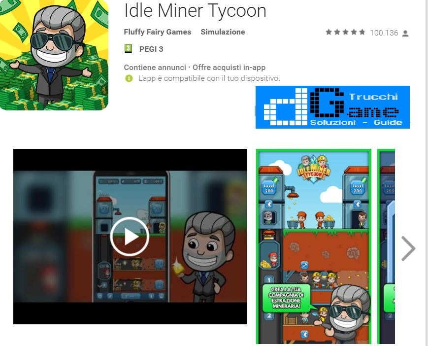 Trucchi Idle Miner Tycoon Mod Apk Android v1.20.1