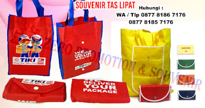 goody bag lipat, goodie bag tas dompet, Tas lipat, Souvenir tas lipat bahan parasut, tas dompet lipat, Tas Lipat Nylon, tas lipat custom