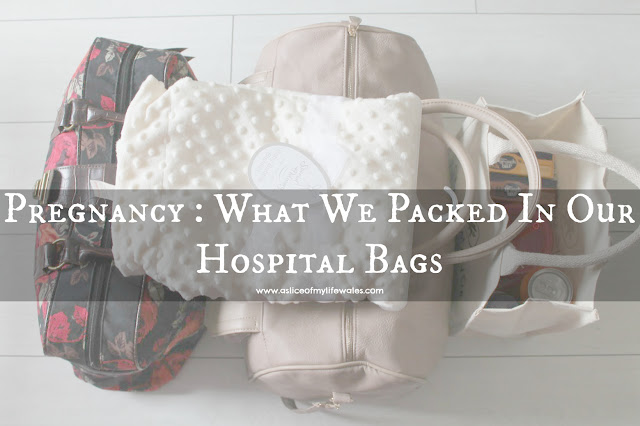 Blog post - what to pack in your hospital bags for giving birth