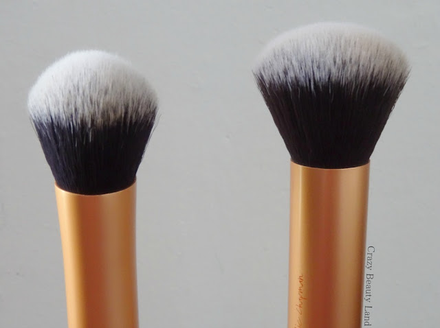 Real Techniques THE EXPERT FACE BRUSH in India Review Comparison with Buffing Brush