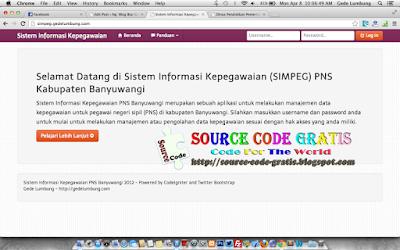 Download Source Code Gratis PHP Sistem Informasi Kepegawaian Menggunakan Codeigniter dan Bootstrap