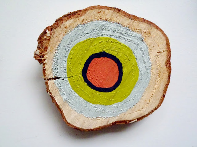 hand painted tree rings