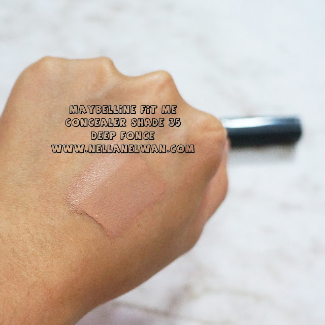maybelline fit me concealer 35 deep swatch nellanelwan