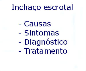 Inchaço escrotal causas sintomas diagnóstico tratamento prevenção riscos complicações