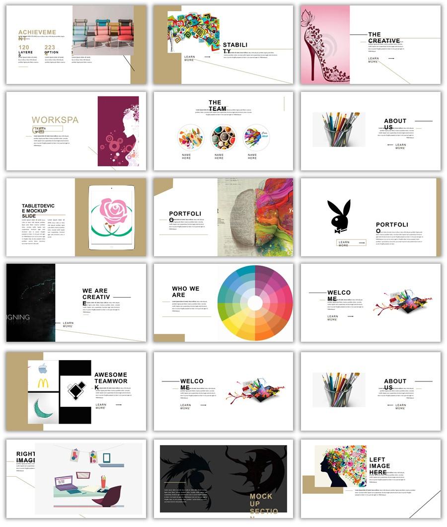 عرض باوربوينت جديد ومميز لعرض التصميمات الخاصة 2018