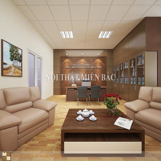 Sản phẩm nội thất nhập khẩu được thiết kế cho phòng giám đốc giúp toát lên vẻ đẹp hiện đại, sang trọng cho không gian làm việc của lãnh đạo