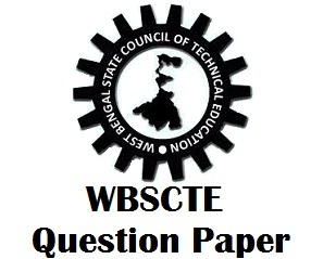 WBSCTE Question Paper PDF West Bengal Diploma Previous